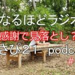 感謝することで見落としがちなこと Masapi21のなるほどラジオ #Podcast #009